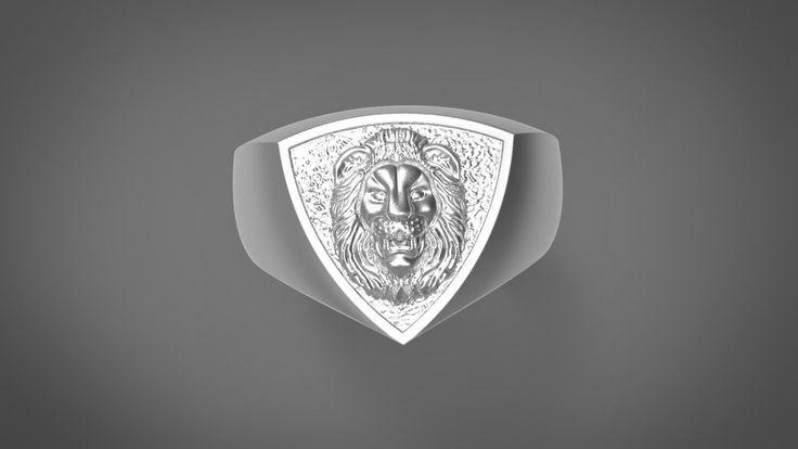 lion head ring 3d model stl 1