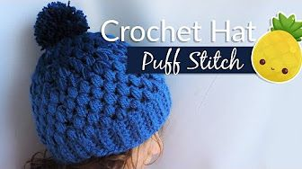How to #Crochet Puff Stitch Hat for woman Fast & Easy ASMR Video Class - YouTube