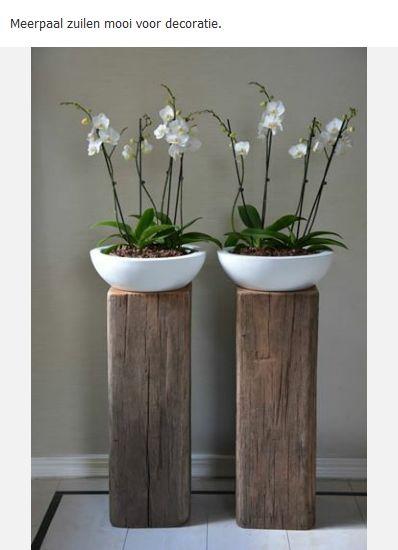 Meerpaal zuilen als decoratie voor bvb een bloemstuk...supermooi!
