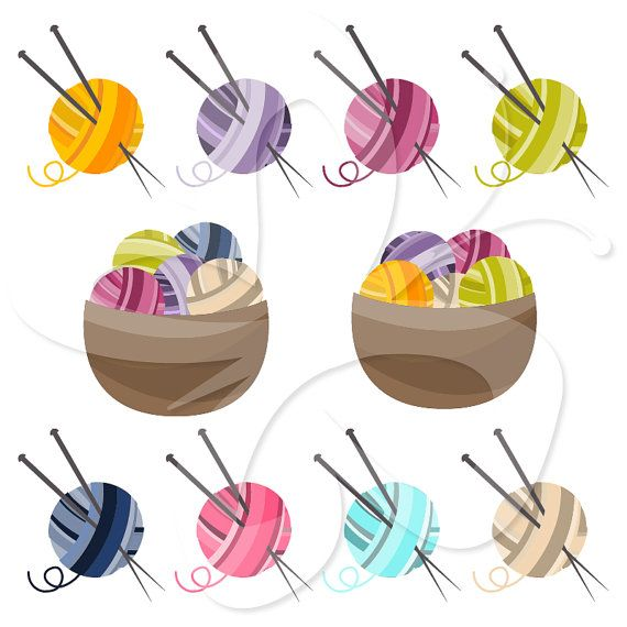 Knitting Images Free Clip Art : Knitting clipart clip art set personal and by