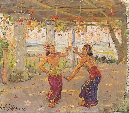 Adrien Jean Le Mayeur de Merprés - Dancing Balinese women