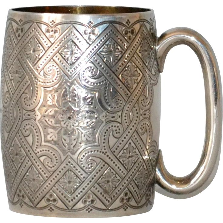 Antique Sterling Silver Mug Cup