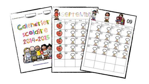 Calendrier scolaire 2014-2015 - La classe de Mme Figaro