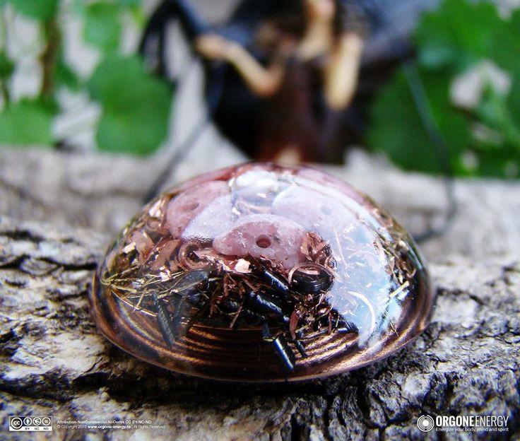 Orgone-Energy Pandantiv Emisferic cu Rodonit