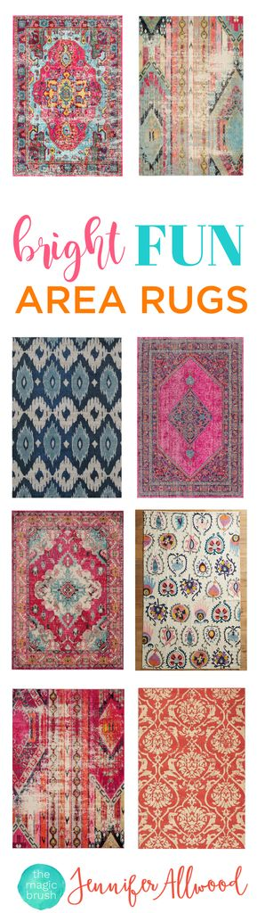 add color to your home with rugs - Colorful Area Rugs