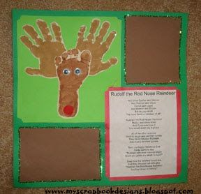 Reindeer hand print craft