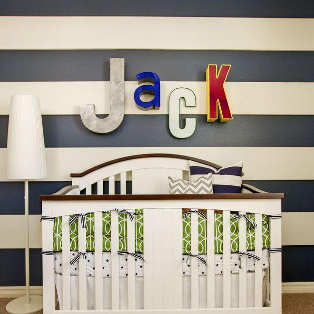 Die besten 25+ gestreifte Wand Säuglingsstation Ideen auf - gestreifte grne wnde