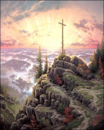 Thomas Kincade  This is my favorite painting and have it on my living room wall.  I never tire of the changing shades of color and the message of salvation.
