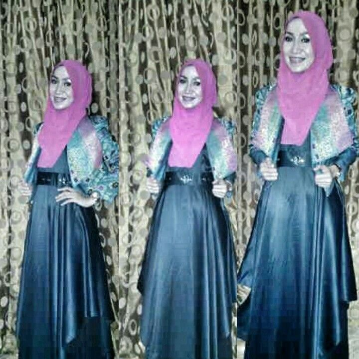 rhuminen dress mix with croop lawas jacket