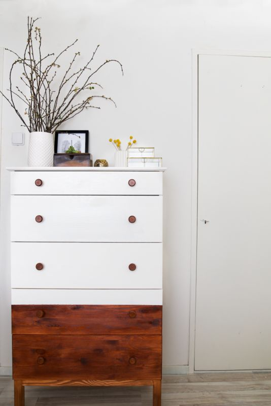 11 Surprising Ways to Upgrade an Ikea Dresser Two-Toned