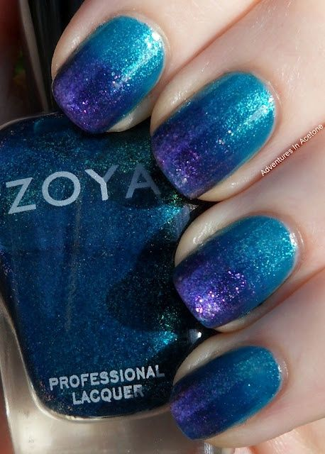 Zoya Nail Polish in Charla and Mimi Gradient