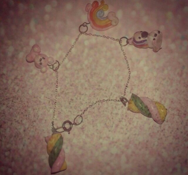 Rainbow charm bracelet FIMO (I)