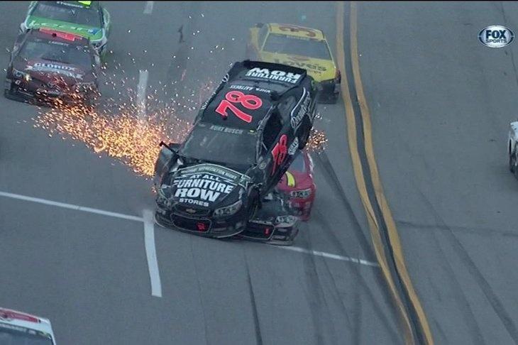 NASCAR Talladega 2013: NASCAR Talladega: Huge wreck on Lap 184 takes Danica Patrick, Kurt Busch out of race – SBNation.com