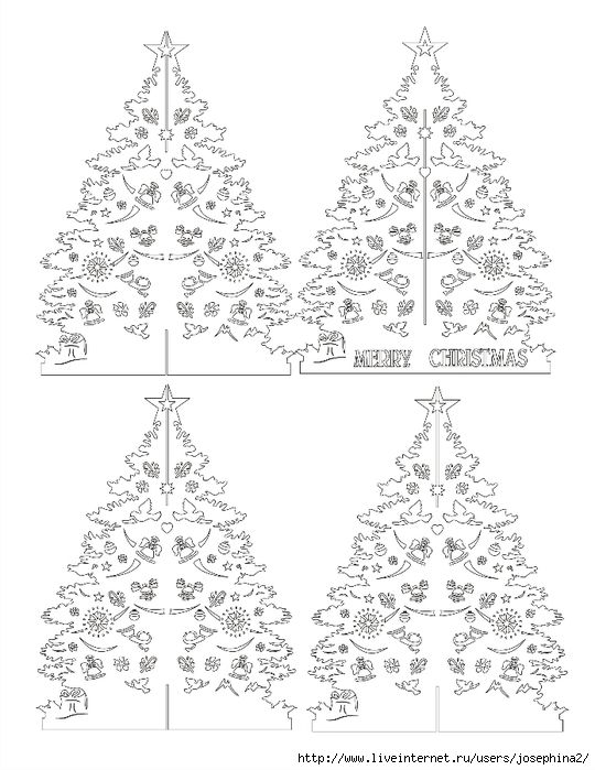 Kirigami - Papercutting- Christmas tree pattern: Kirigami - Papercutting- Christmas tree pattern