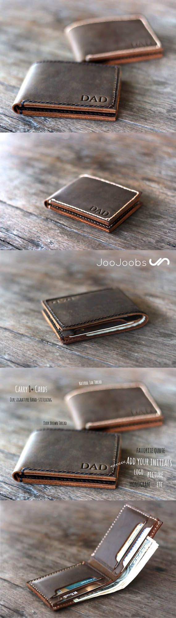 Need an original, unique gift?  Come check out JooJoobs' handmade leather wallet shop, the number one wallet shop on Etsy 4 years straight!