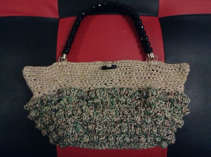 Bobble stitch tote bag