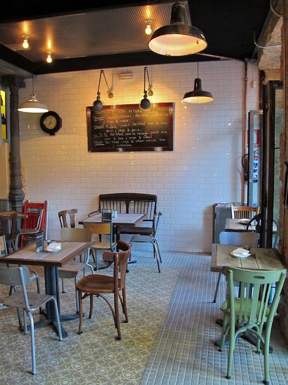 La Revoltosa, eclectic brunch spot with mismatched furniture and lovely tiled surfaces