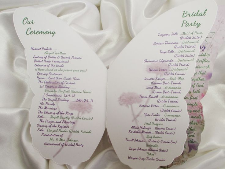 Best Wedding Program Images On   Wedding Programs