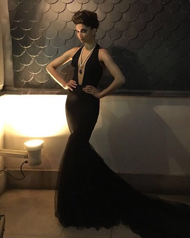 All the way from Madrid! Here's another exclusive image of @deepikapadukone's stunning look for #IIFARocks -Team DP