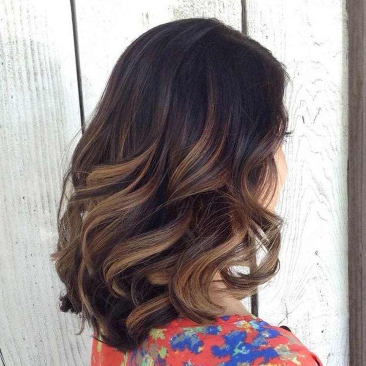 caramel+balayage+for+thick+dark+brown+hair