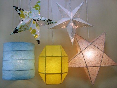 How to make Paper Lanterns- has PDF printable pattern!