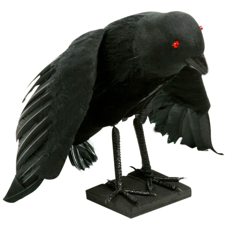 1299 raven with light up eyes prop measures approximately 9 high requires halloween birthdayhappy halloween7th birthdaydecoration - Raven Halloween Decorations
