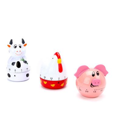Farm Animal Kitchen Timer Set by Design Imports on #zulily