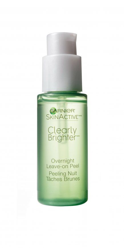Garnier SkinActive Clearly Brighter Overnight Leave-on Peel. Wake up to a smoother and brighter complexion, thanks to the power couple of glycolic acid and vitamin C.