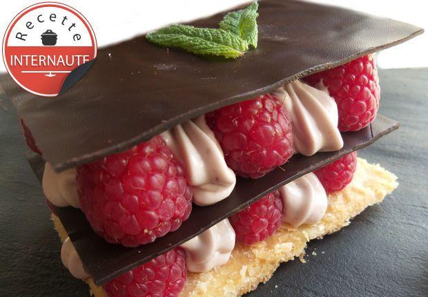 Le millefeuille chocolat framboise de MamanTambouille