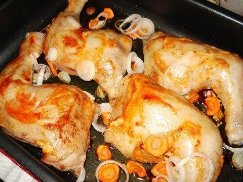 Куриные ножки запеченные в духовке под майонезом