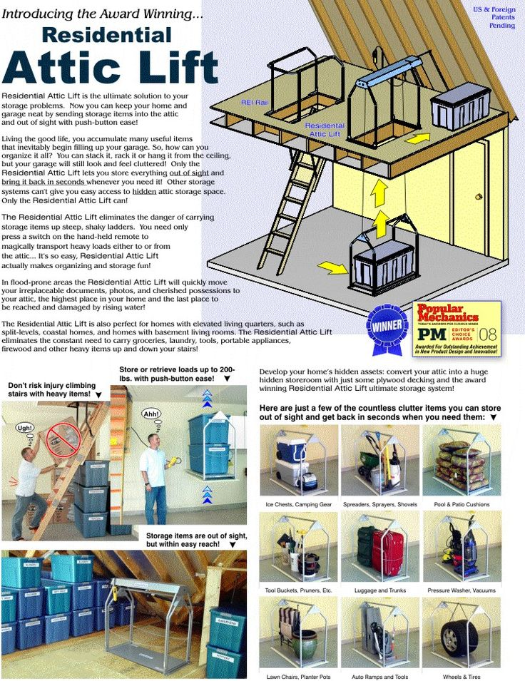 The 25 best attic lift ideas on pinterest garage hoist for Garage plans with lift