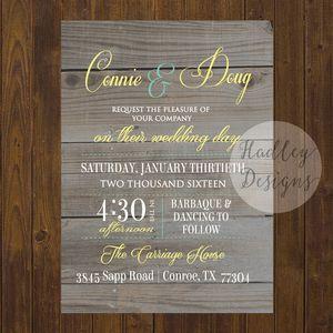 Rustic Wedding Invitations, Country Wedding Invite, Western Wedding  Invitations, Country Rustic Wedding Invite