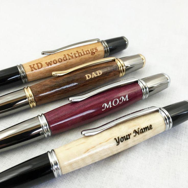 Personalized Pen, Custom Wood Pen, Engraved Wood Pen, Engraved Pen for Him, Groomsmen Gift, Engraved Gift, Boss Gift, Engraved Pen Gift by KDwoodNthings on Etsy