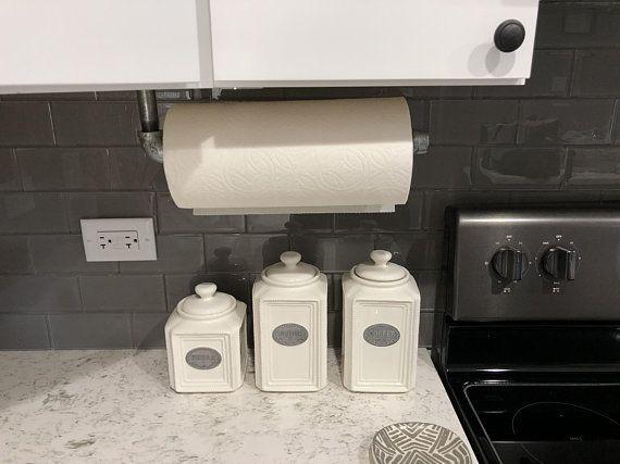 Paper Towel Holder Towel Rod Industrial Holder Under Cabinet