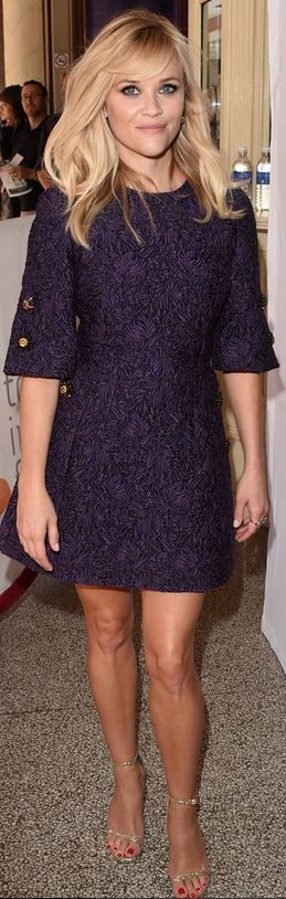 Reese Witherspoon, cute cropped mod-inspired silhouette for her