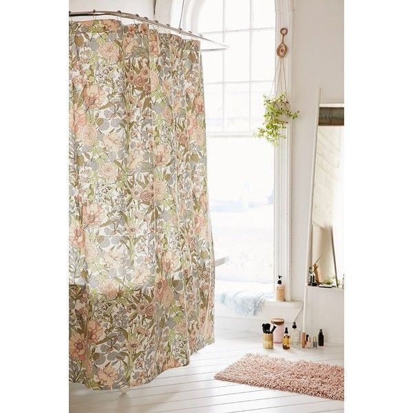 Plum & Bow Cecilia Floral Shower Curtain (68 CAD) ❤ liked on ...