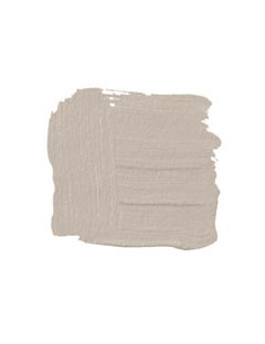 """BENJAMIN MOORE SMOKEY TAUPE 983: """"This is the color of a beautiful Belgian linen. Very classic. Not too light and not too dark, but with enough depth to look great on a wall."""