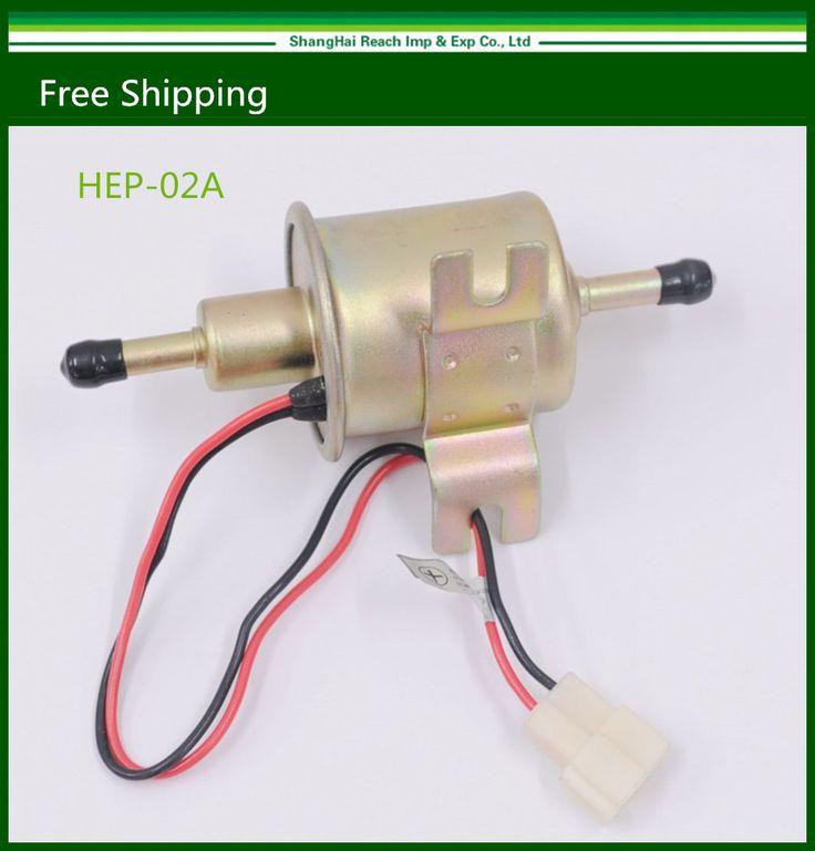 12 V יוניברסל גז דיזל Inline משאבת דלק HEP-02A חשמלי לחץ נמוך