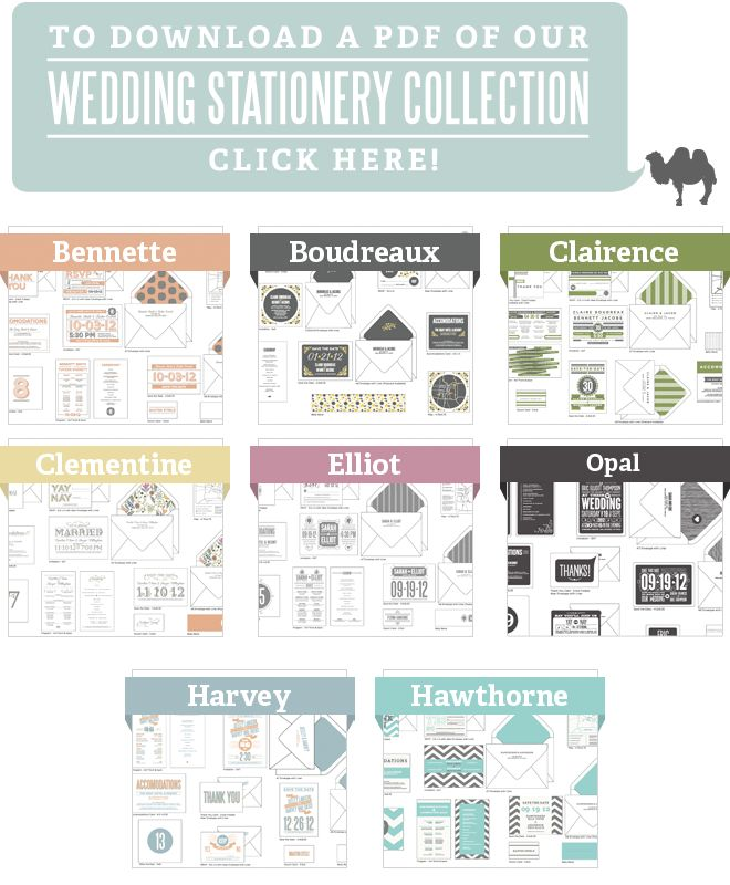 Sweet wedding stationary collections!
