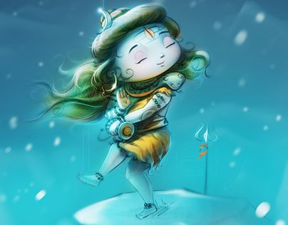"""Check out new work on my @Behance portfolio: """"Lord Shiva"""" http://on.be.net/1BV1aDa"""