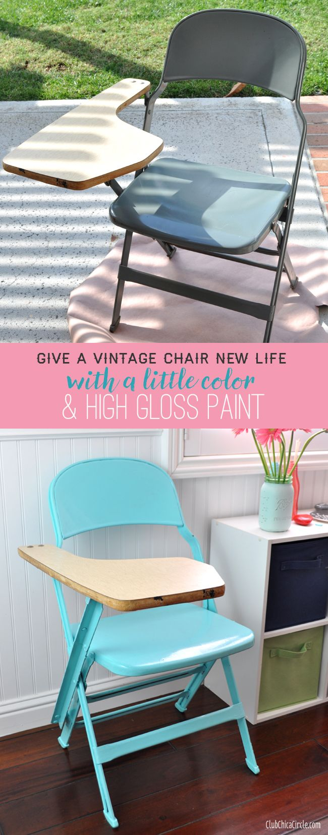 How to Give Old Folding Chairs a Colorful Makeover Crafts