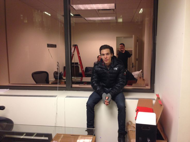 4.Jan. 16, NYC: Matthew Koma takes a quick break from helping Scott and I set up our new Cherrytree NYC office