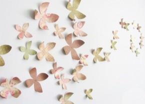 papieren bloemen wand