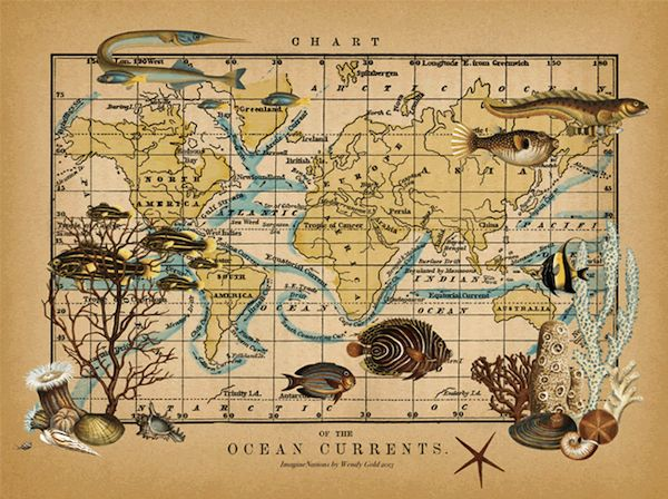 21 best maps images on pinterest old world maps antique maps and maps wendy gold maps of the imagination keepsake box gumiabroncs Gallery