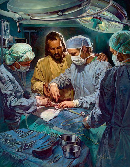 Chefe da equipe médica. Óleo sobre tela. Christian Nathan Greene.