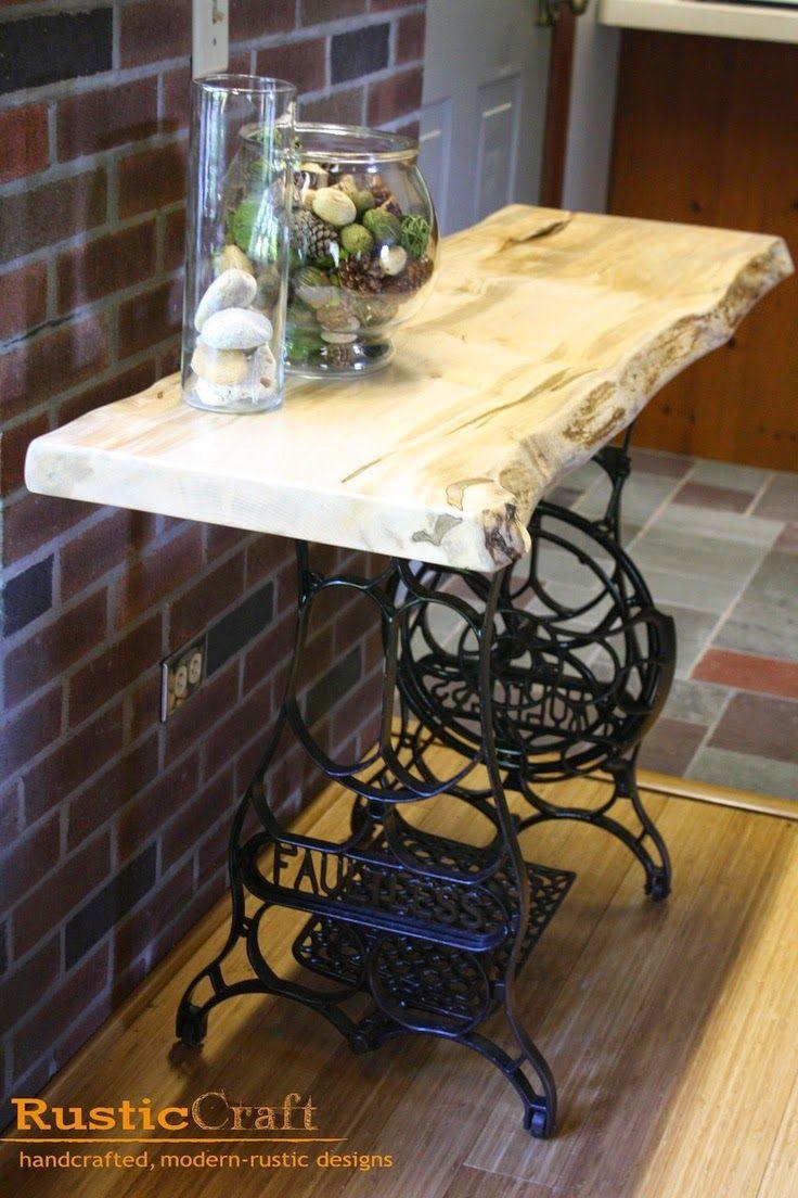 La Buhardilla - Decoración, Diseño y Muebles: Reutilizando mesas de maquinas de coser antiguas