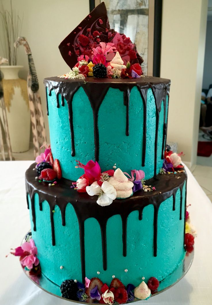Best 25 Turquoise Cake Ideas On Pinterest Rainbow