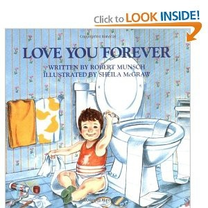 """One of my childhood staples,  this book perfectly illustrates the love that a mother has for her child.                                                  (from Amazon): """"The mother sings to her sleeping baby: """"I'll love you forever / I'll love you for always / As long as I'm living / My baby you'll be."""" She still sings the same song when her baby has turned into a fractious 2-year-old, a slovenly 9-year-old, and then a raucous teen. So far so ordinary--but this is one persistent lady. When…"""