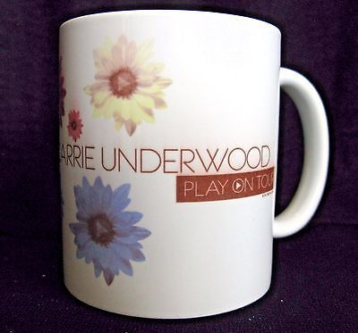 Carrie Underwood Coffee Mug 2010 Play On Tour Country Music Nashville Flowers