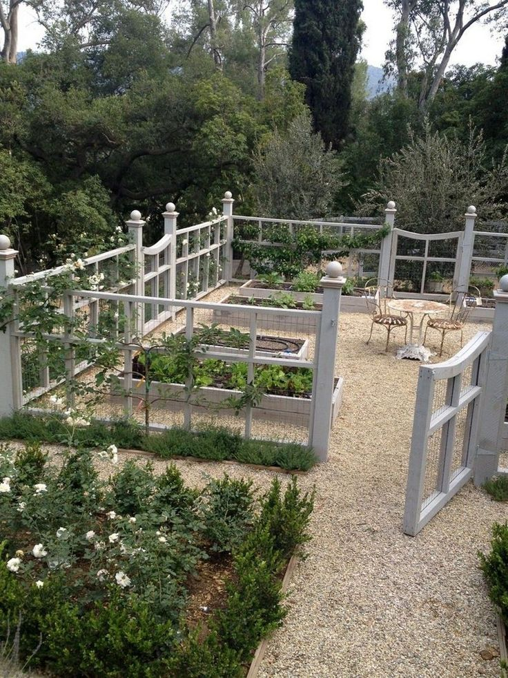 Cheap and Easy DIY How to Make Raised Garden Beds With Fence https://www.onechitecture.com/2018/01/19/cheap-easy-diy-make-raised-garden-beds-fence/ #LittleGardenDesign
